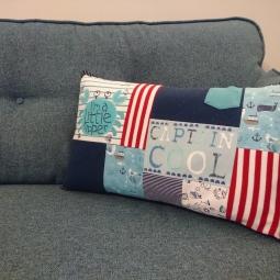 Nautical theme keepsake cushion