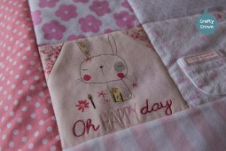 Keepsake quilt in beautiful pastels