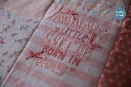 Keepsake quilt in beautiful pastels