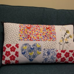 A pretty floral keepsake cushion