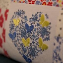 A pretty floral keepsake cushion